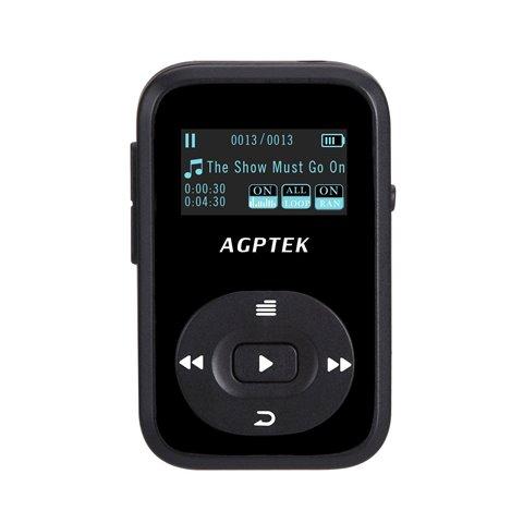 AGPTEK Mp3 Bluetooth 4.0 A26 Lecteur Mp3 8Go avec Pince , Noir