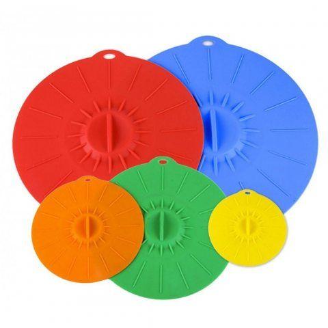 Coque en silicone couvercles 4,6,8,10,12respectueux Utilisez votre Aspiration couvercles pour votre bols, tasses, pots, cass
