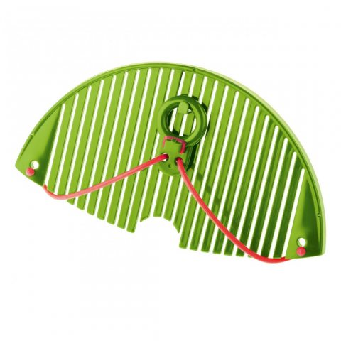 Moha 9741FORTUNAT FLEXY Egouttoir Flexible POM/Silicone Vert/Orange 20,5 x 11 x 1,8 cm