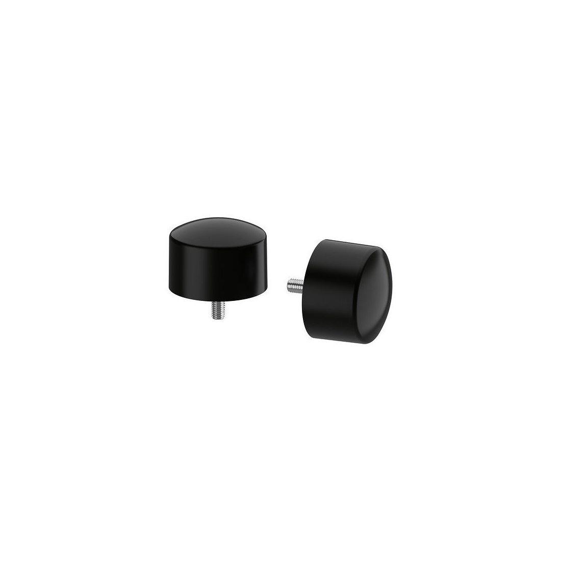 IKEA RAFFIG - Embout, noir paquet / 2