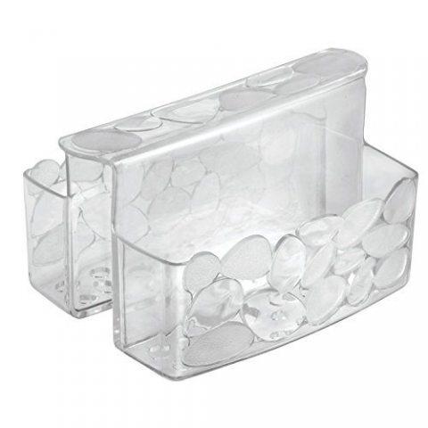 Porte éponges transparent - InterDesign - Séparateur cavalier pour éviers et lavabos