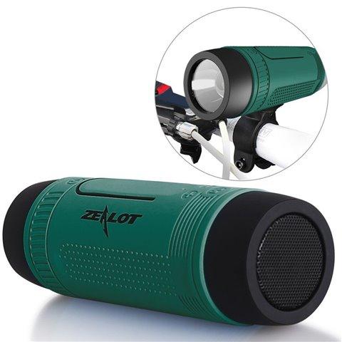 Enceintes Bluetooth ZEALOT S1 CSR4.0 Haut-parleurs Sans Fil Outdoor Speakers Portable Rechargeable Multifonction Boombox avec