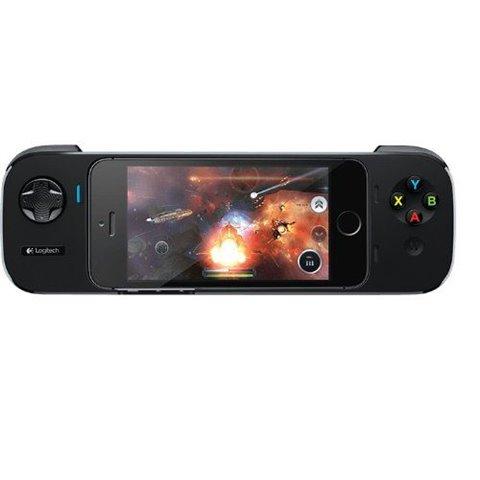 Logitech PowerShell Contrôleur + Batterie Gaming pour iPhone 5S/iPod Touch Noir