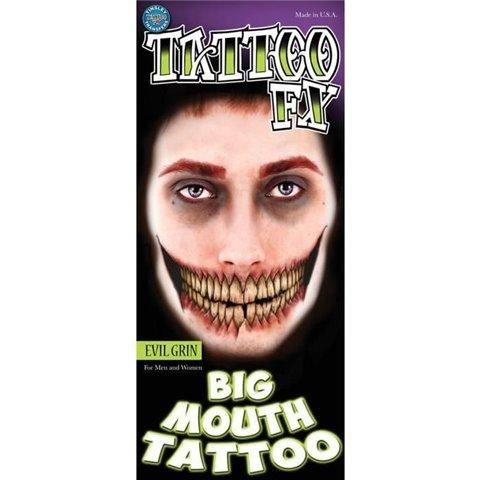 Tatouage provisoire Tinsley Evil Grin