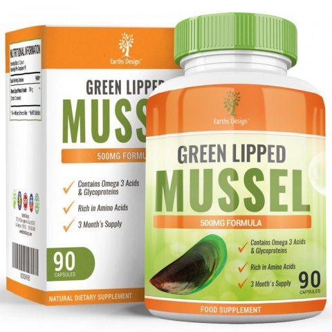 Moule à Lèvres Vertes - 500mg Extrait de Moule Verte - Green Lipped Mussel - Complément à Dosage Maximum pour Hommes, Femmes
