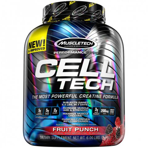 MuscleTech Cell-Tech Performance Séries Complément Alimentaire Punch aux Fruits 6 lbs