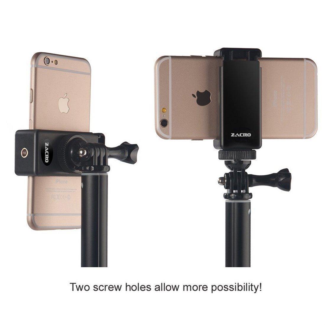 Zacro Adaptateur Universel de Trépied de Smartphone pour iPhone Samsung Galaxy Nexus et Plus de Téléphones Portables - utilis
