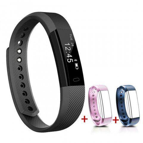 NAKOSITE SB2433 Montre connectée sport, Bracelet connecté, Podomètre, tracker d'activité, Calcul calories brûlées, moniteur d