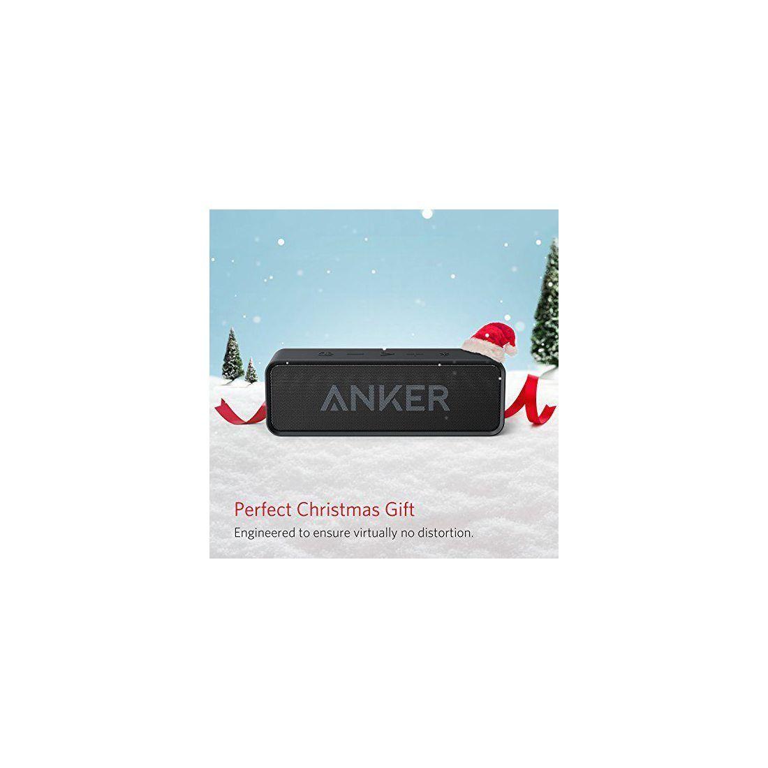 Anker SoundCore Enceinte Bluetooth Portable Stereo avec Batterie Durée de 24 Heures, Micro Intégré et Port de Basses pour Son
