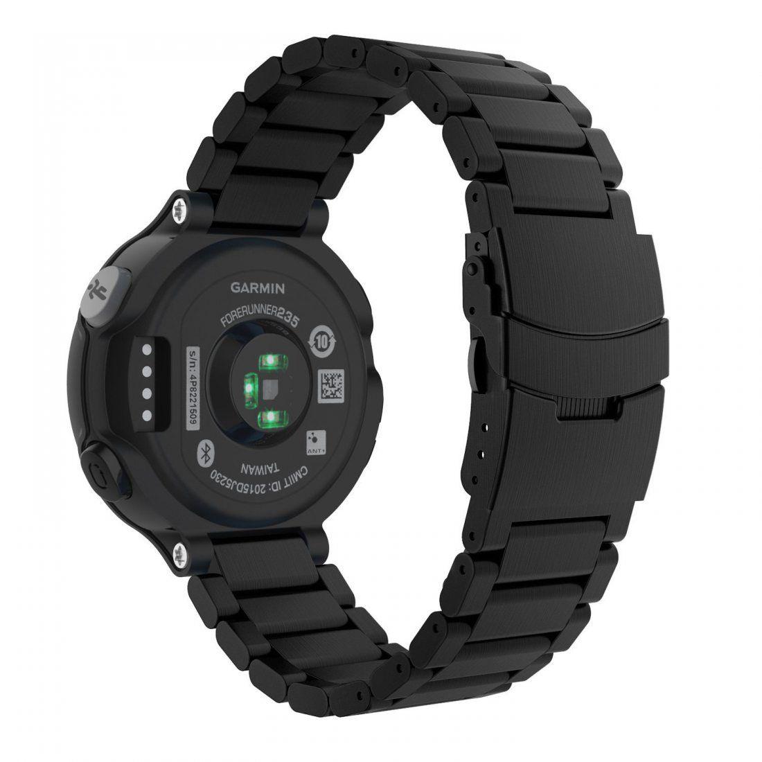 Garmin Forerunner 235 Smartwatch Bracelet, MoKo Band en acier inoxydable avec Métal Fermoir déployante pour Forerunner 23522