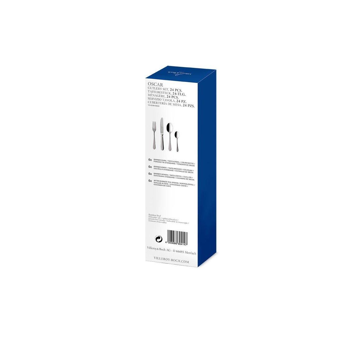 Villeroy & Boch 12–6339–9033Oscar Ménagère Acier inoxydable, Blanc, 27x 7,5x 6,5cm