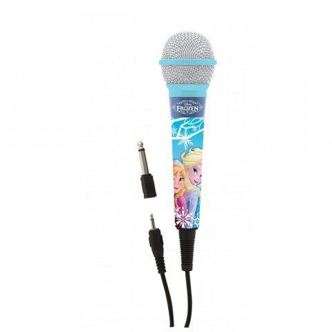 Lexibook Microphone Disney Frozen La Reine des Neiges Elsa, Jack 3,5 et Adaptateur 6,3 mm, Haute sensibilité, chanter avec le