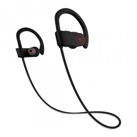 Ecouteur Bluetooth 4.1,JIAMA Casque de Sport Oreillette U8 Sans Fil Stéréo compatible avec Apple iPhone, Android, Windows Sma