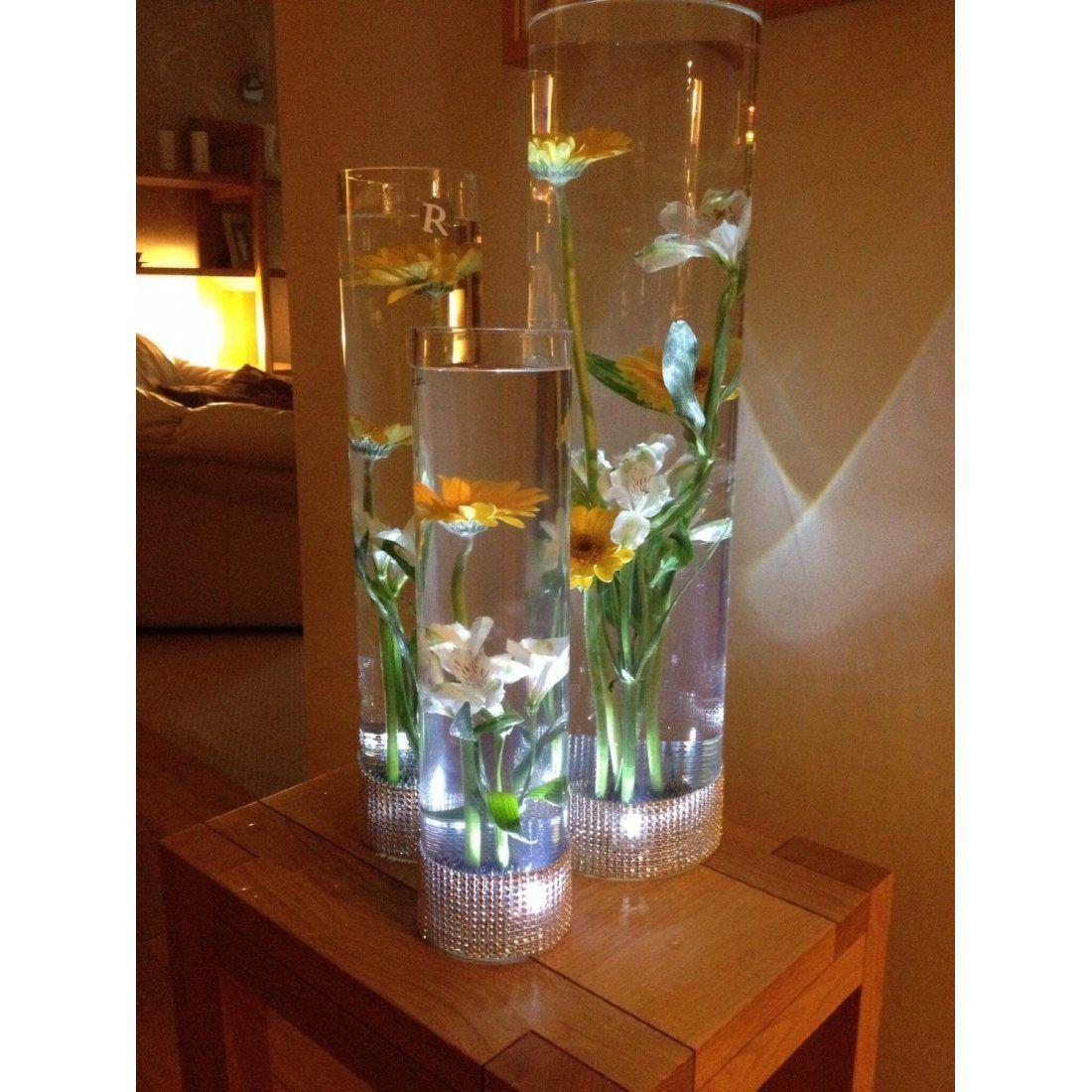 Lot de 20 lumières/bougies chauffe-plats LED submersibles étanches Blanc