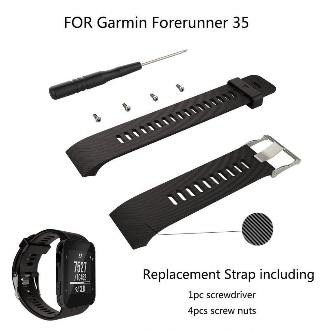 YEFOD Garmin Forerunner 35 Bracelet, Silicone Remplacement Accessoire Bande Bracelet de Montre pour Garmin Forerunner 35