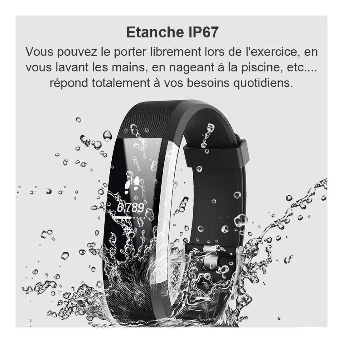Willful Montre Connectée Smartwatch Podomètre Bracelet Connecté Etanche IP67 pour Femme Homme Enfant Smart Watch Cardio Fitne