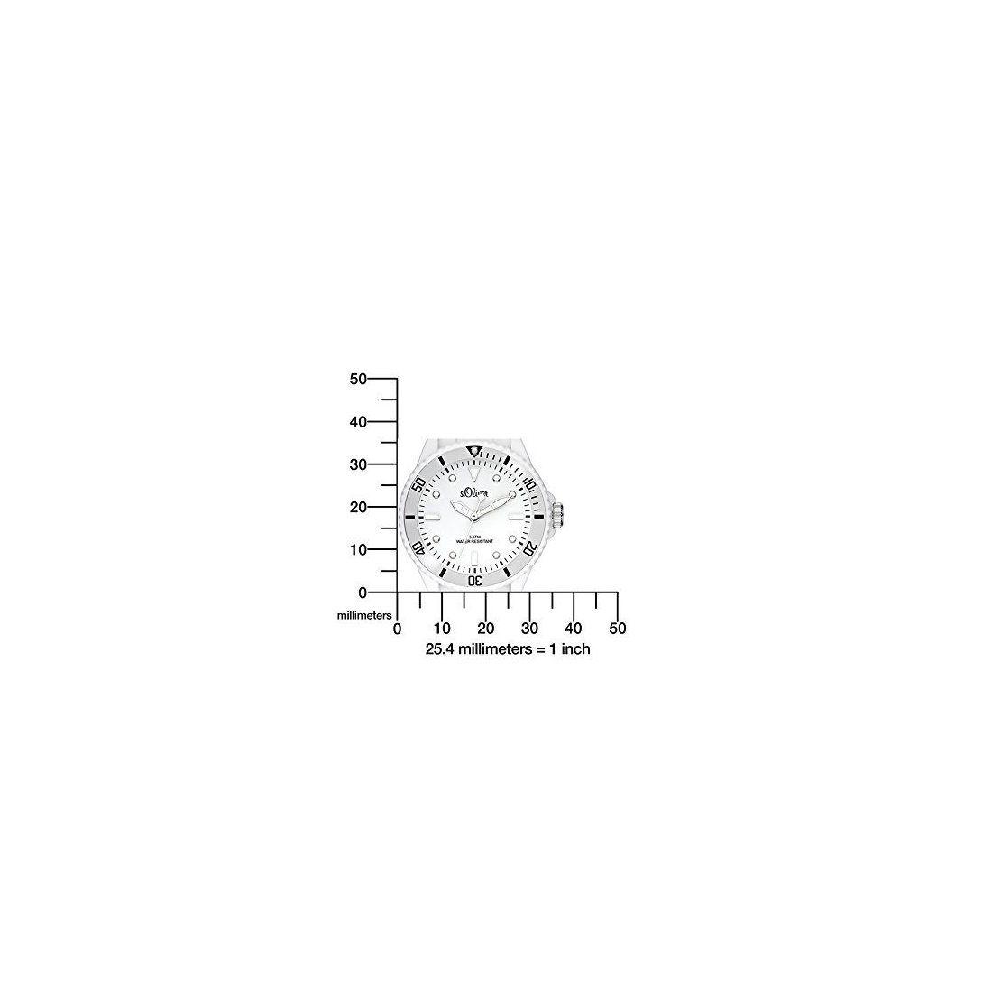 S.Oliver Montre Fille Analogique Quartz avec Bracelet en Silicone – SO-2755-PQ