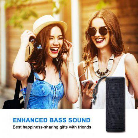 ZENBRE Enceinte Bluetooth, Z4 Enceinte Sans Fil 20h Temps de Jeu, Bluetooth 4.1 avec Basse Plus Profonde, 2x5W Haut-parleurs