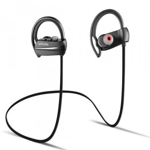 yobola Ultra-Longue Autonomie ÉcouteursBluetooth 4.1 sansFil Oreillette IntraAuriculaire Casque Sport Etanche Réduction du