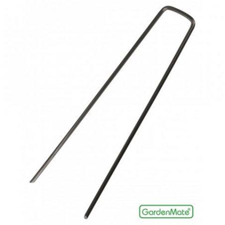 GardenMate® 100 piquets de fixation en acier 2,9 mm, 150 mm long, 25 mm large